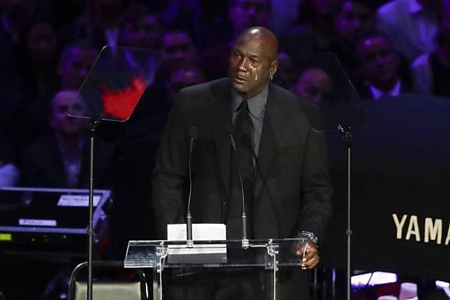 Michael Jordan追思Kobe(圖/美聯社/達志影像)