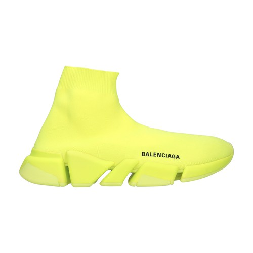 Balenciaga likes to offer innovative models such as these Speed It 2.0 fluorescent high-top sneakers