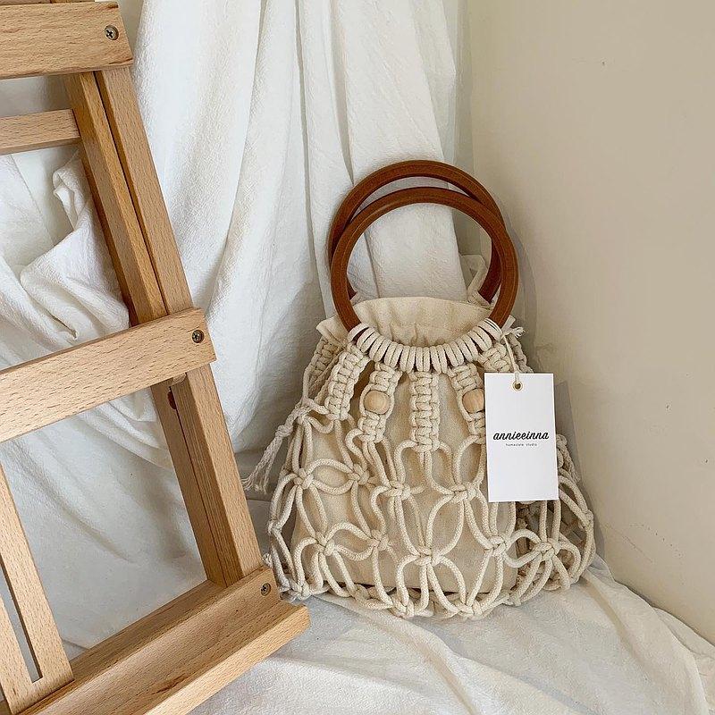【線上】Macrame DIY 編織木環珠珠手提包 l 含材料包 全程影片