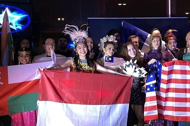 Maria Sinaga asal Bekasi menjuarai kompetisi menyanyi I-Sing World 2019 kelas junior di Swedia.