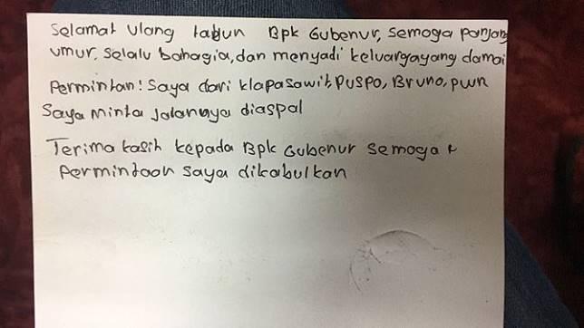 Kirim Surat Ke Gubernur Siswa Smp Minta Doa Agar Langgeng