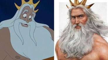 真實性感老爹!當「迪士尼主角爸爸」化為真人版 《小美人魚》川頓國王未免也太帥?