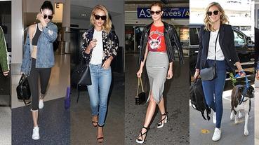 不學太可惜,妳與名模們的機場時尚只差一件「外套」