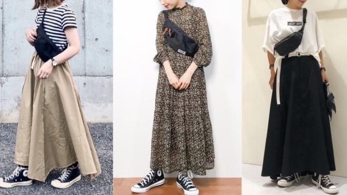 用一個包穿搭就夠!看日本女生多變的黑色腰包混搭風格