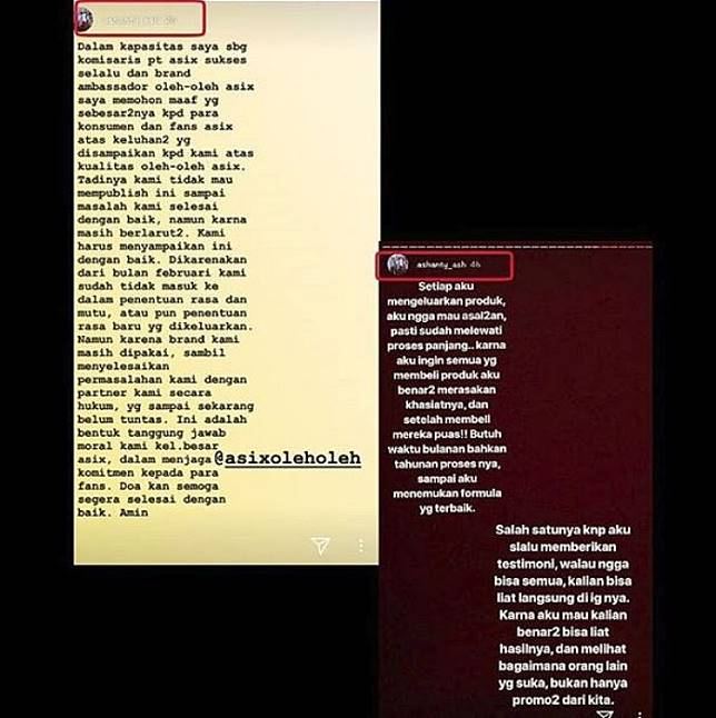 Permintaan maaf Ashanty | instagram/taantee_rrempoonng