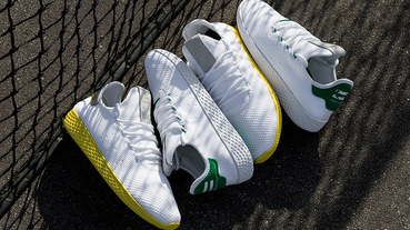 新聞分享 / 雙色齊發!Pharrell Williams x adidas Originals Tennis Hu 臺灣本週末登場