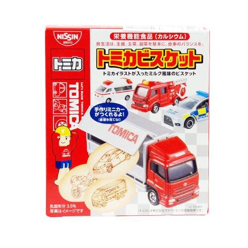 日本 日清食品 TOMICA 汽車餅乾(小汽車模型! 隨機出貨)★愛兒麗婦幼用品★