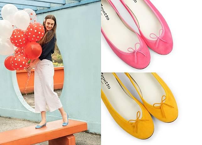 經典的Cendrillon芭蕾舞鞋以彩虹色澤登場,猶如一場熱鬧繽紛的色彩派對。(互聯網)