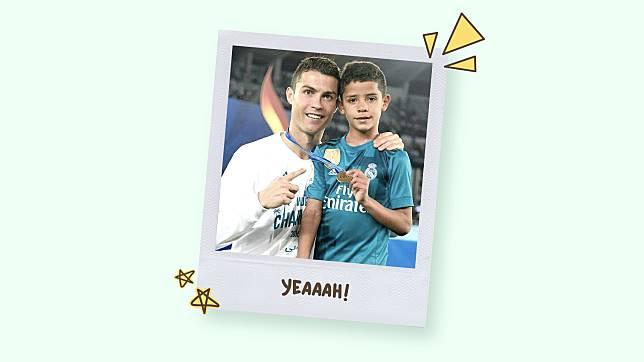 6 Potret Kedekatan Cristiano Ronaldo dengan Anak Sulungnya, Manis Sekali!