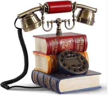 特價古典轉盤電話 創意座機 電話機 來電顯示 固定電話機字典 -afd036