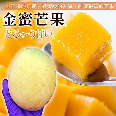 【果之蔬】嚴選金蜜芒果15顆(每顆約250g)