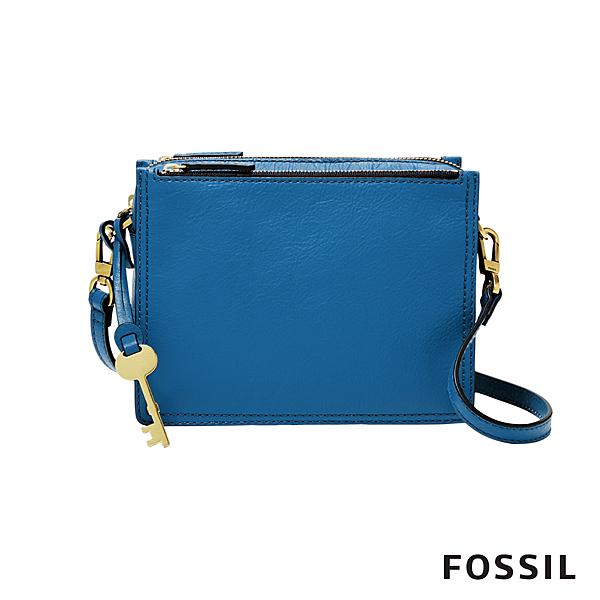 FOSSIL 官方旗艦店 拉鍊開口 造型鑰匙掛飾 多層收納 隱密性佳 型號:ZB7264965