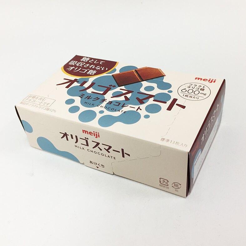 明治meiji 果寡糖代可可脂牛奶巧克力 13枚