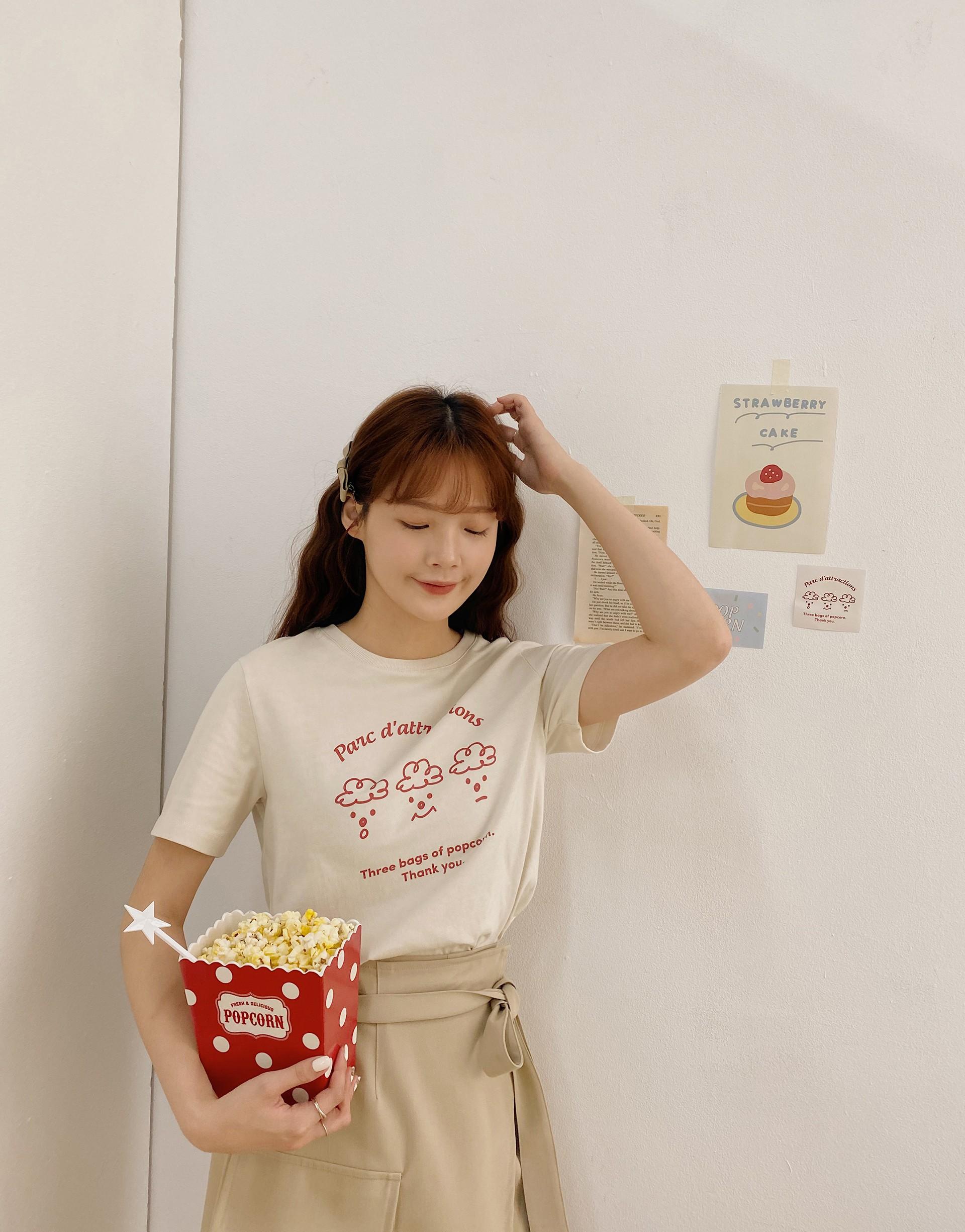 MIT台灣製造/品牌開發舒適布料/可愛爆米花兄弟手繪感印花