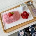 糸かき氷 ストロベリー - 実際訪問したユーザーが直接撮影して投稿した大久保カフェSeoul Cafeの写真のメニュー情報