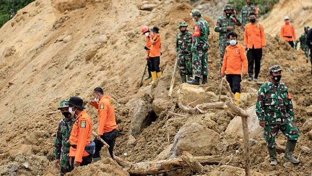 Longsor terjadi di kawasan proyek Pembangkit Listrik Tenaga Air (PLTA) Batang Toru, Desa Marancar Godang, Kecamatan Batang Toru, Kabupaten Tapanuli Selatan, Sumatera Utara (Sumut) (Istimewa)