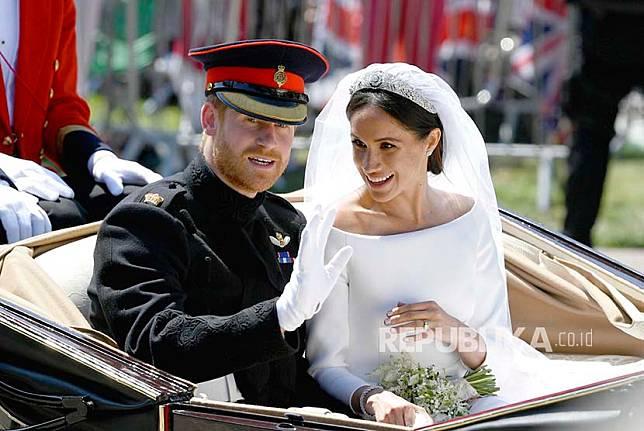 Tim kuasa hukum Meghan Markle mengklaim bahwa pernikahan Meghan dan Harry membawa sekitar 1 miliar euro atau sekitar Rp 16,2 triliun untuk pendapatan pariwisata Inggris (Foto: pernikahan Harry-Meghan)