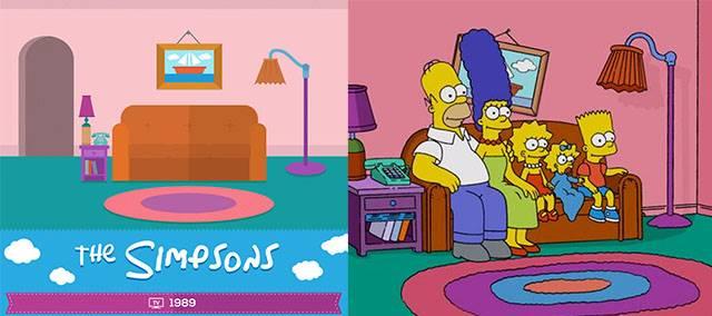 Simpsons Mana Ruang Tamu