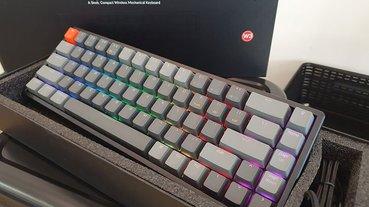 Keychron K6 超精簡 68 鍵機械式鍵盤 RGB 熱插拔軸開箱動手玩,雙模式、四系統宛如量身定做