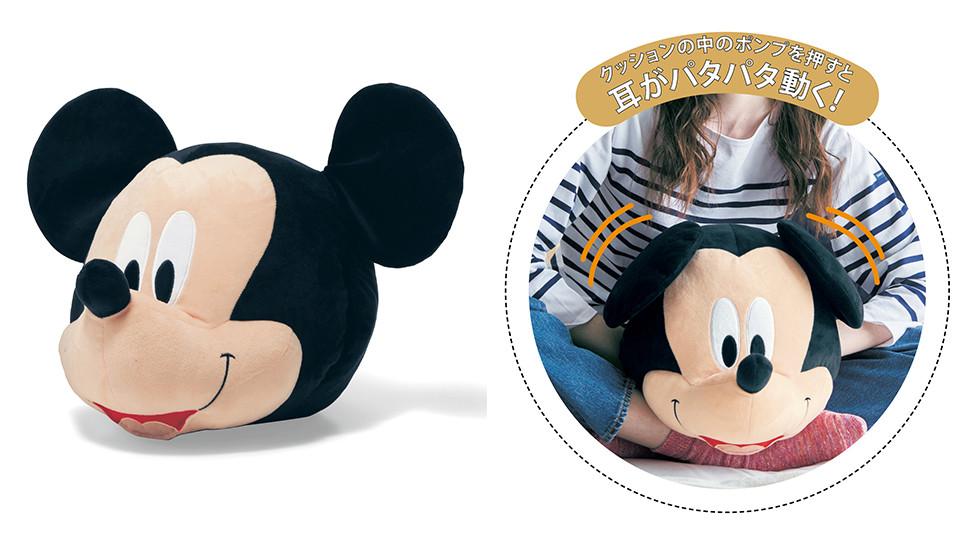 迪士尼「大頭暖手枕」3,990日元(約NT$1,075)