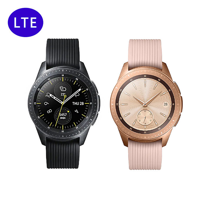 【領券現折$1000】Samsung Galaxy Watch 42mm 智慧型手錶 (LTE版) SM-R815午夜黑