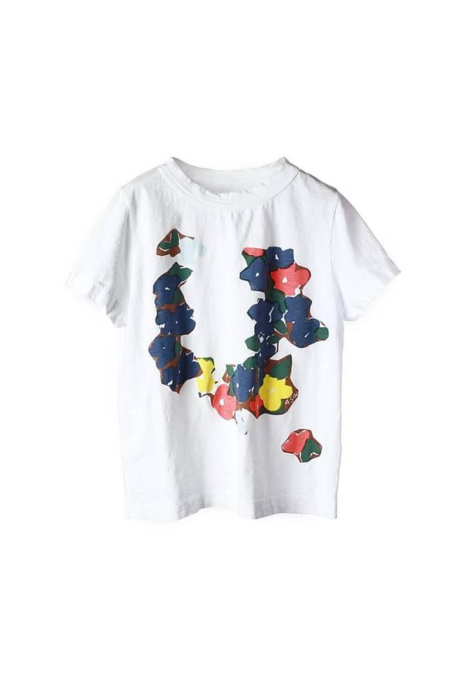白色花卉圖案Tee(互聯網)