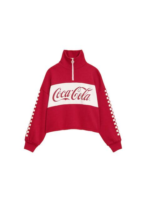女裝半拉鍊休閒上衣Coca-Cola+EC_327204_16