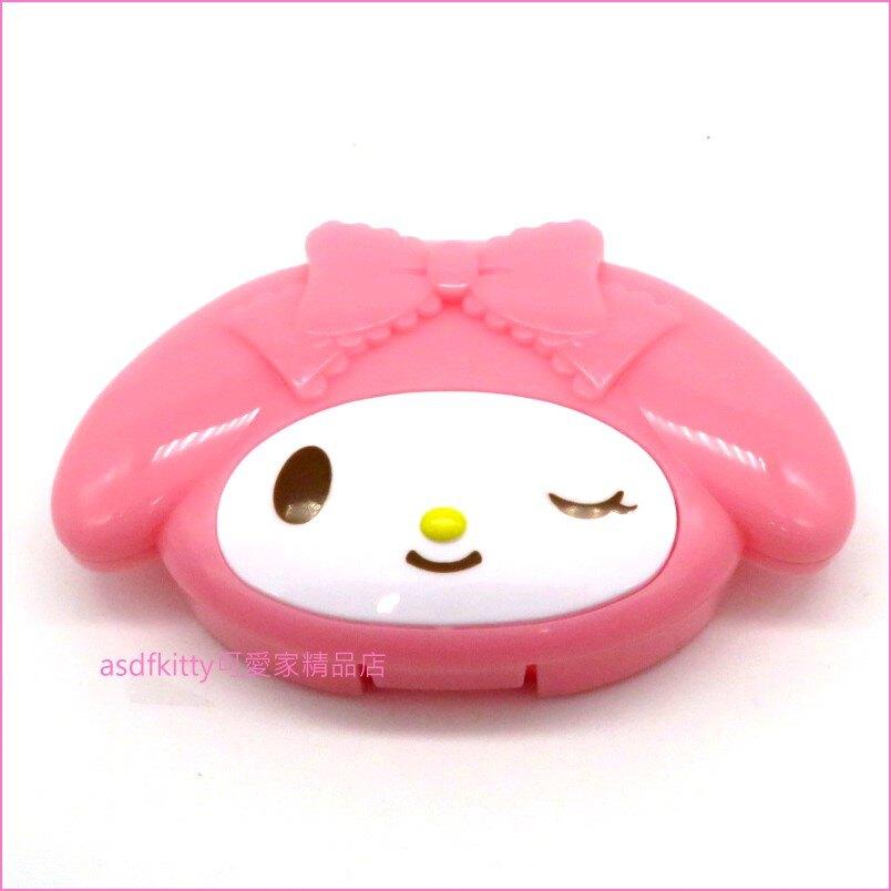 asdfkitty可愛家☆美樂蒂耳機收納盒/集線盒-可收納耳機 USB充電線-日本正版商品