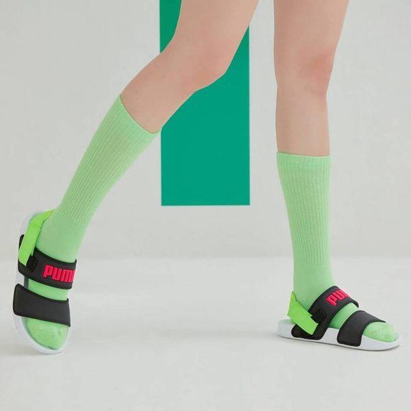 [TellCathy 7 ]PUMA 泫雅著 拖鞋 涼鞋 370733-01 黑螢光