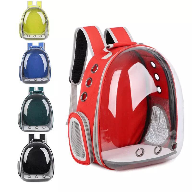 最新款寵物透明太空包 全透明太空艙寵物背包 寵物外出背包【C00001】