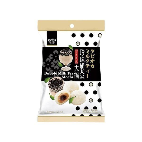 【商品規格】1. 品牌:皇族珍珠奶茶風味大福120g2. 內容物/規格:120g3. 保存期限:270天4. 成份:請參考圖片5. 營養標示:請參考圖片營養標示數據若與包裝上略有差異時,以實際包裝上標