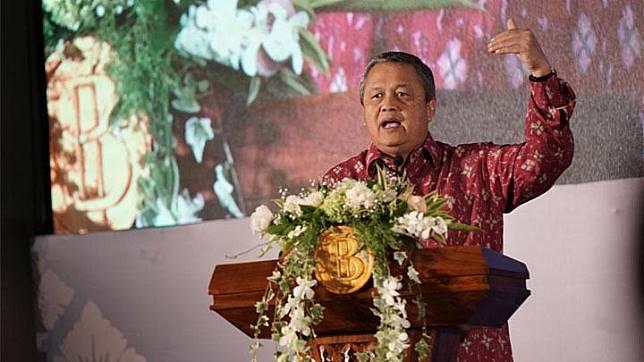 Gubernur Bank Indonesia Perry Warjiyo memberikan sambutan dalam konferensi internasional Bulletin of Monetary Economics and Banking (BMEB) ke-13 di Bali, Kamis, 29 Agustus 2019. Istimewa