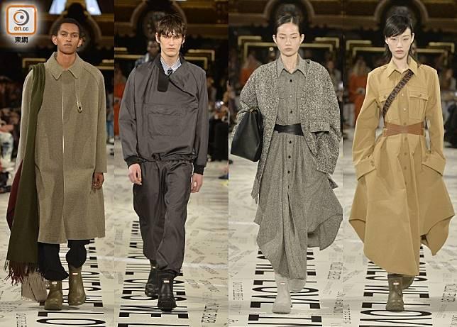 STELLA McCARTNEY 2019 F/W Fashion Show,男女模特兒亦有着用此聯名靴款配襯不同造型。(互聯網)