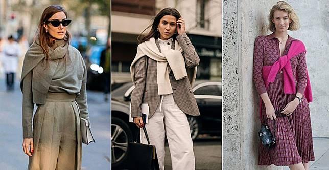 買毛衣記得多帶一件~潮人把針織毛衣當圍巾,樸素穿搭秒變時髦