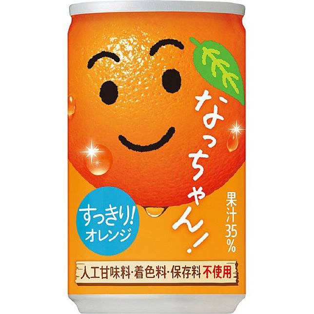 排第8位的Natchan Orange在日本是相當具人氣的橙汁飲品,我仲記得初推出時找來田中麗奈做廣告呢。(互聯網)