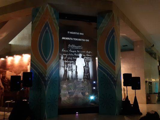 Salah satu tampilan gambar hologram yang akan ditampilkan di Monas Week 2019.