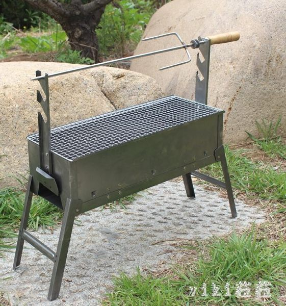 燒烤架 家用BBQ羊肉串加厚燒烤爐子燒烤架木炭烤箱烤羊腿爐肉串3-5人烤雞 LC2992 【VIKI菈菈】