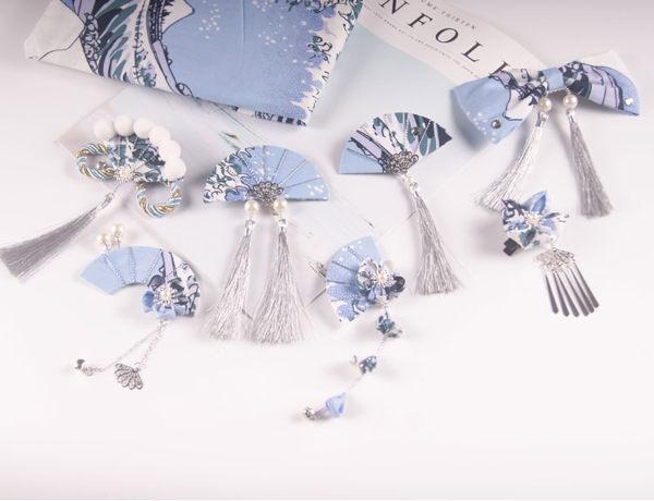 髮簪 閨蜜櫻花漢服和風髮飾古風飾品流蘇櫻花花朵髮夾和服頭飾-凡屋