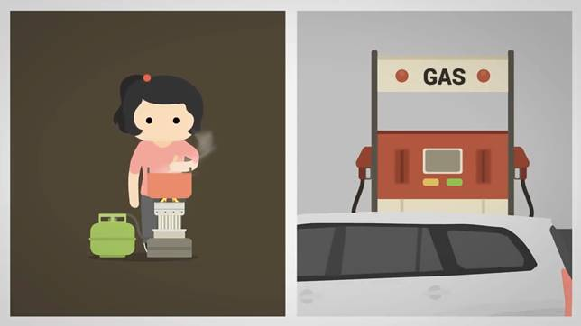 Ngga akan ada lagi orang masak-masak, atau ngantre ngisi bensin sampai kehabisan