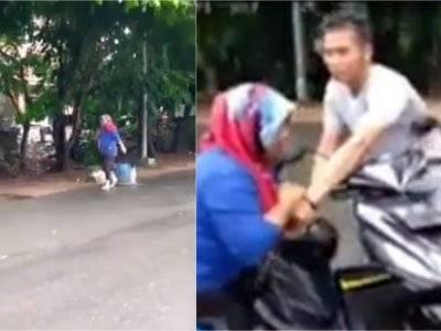 Ditegur karena Diduga Buang Sampah Sembarangan, Wanita Ini Teriak Minta Tolong