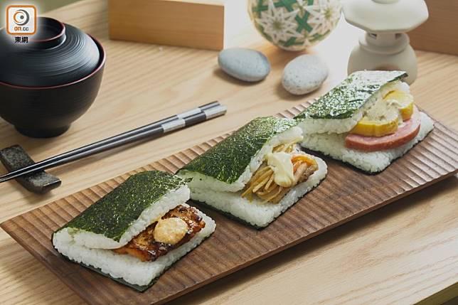 扁平飯糰最初於日本漫畫《COOKING PAPA》出現,期後有便利店製作售賣,近10年在日本流行。(張群生攝)