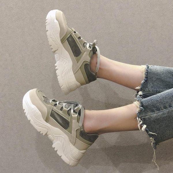 增高鞋 老爹鞋女韓版ulzzang學生2019春季新款厚底鬆糕鞋增高運動鞋百搭 MKS霓裳細軟