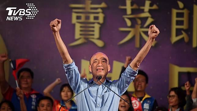 國民黨總統參選人、高雄市長韓國瑜。圖/中央社