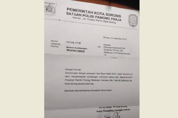 Jelang Natal Beredar Surat Permohonan Bingkisan Dari Satpol Pp Kota Sorong Sindonews Line Today