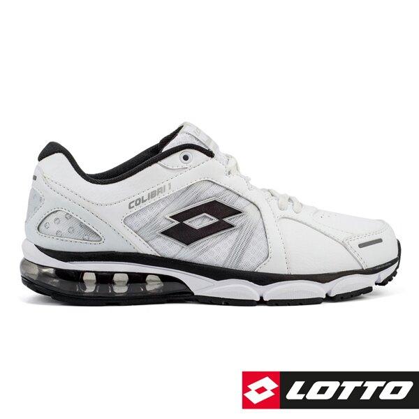 義大利第一品牌-LOTTO樂得 男款情侶款氣墊運動慢跑鞋 [5338] 白黑【巷子屋】