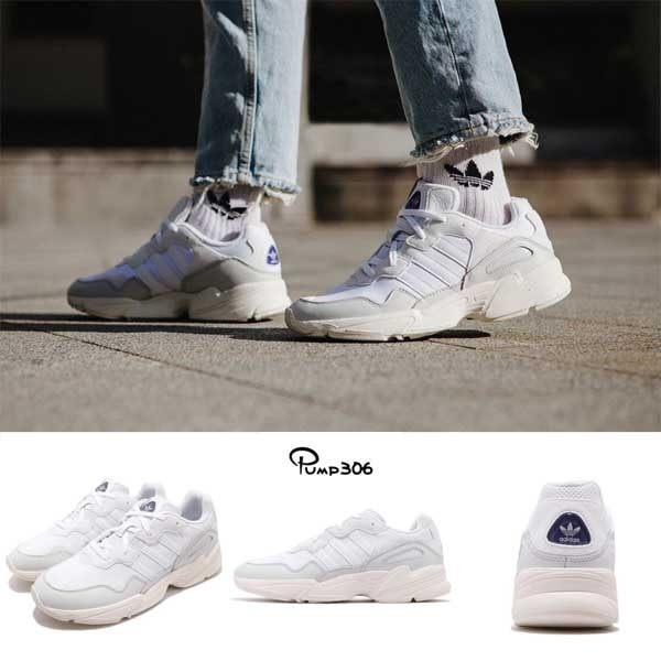 adidas 老爹鞋 Yung-96 白 灰 復古奶油底 老爺鞋 爸爸鞋 運動鞋 男鞋【PUMP306】 F97176