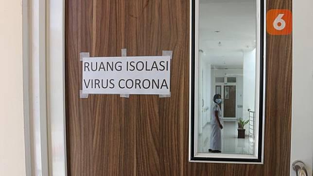 ruang isolasi RS Undata Palu