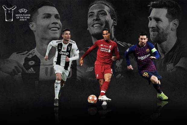 Messi, Ronaldo, Van Dijk Berebut Gelar Pemain Terbaik Eropa