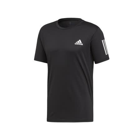 品牌: ADIDAS型號: DU0859品名: Club 3 Stripes Tee特點: 愛迪達 運動休閒 圓領 涼感 吸濕排汗 黑 白