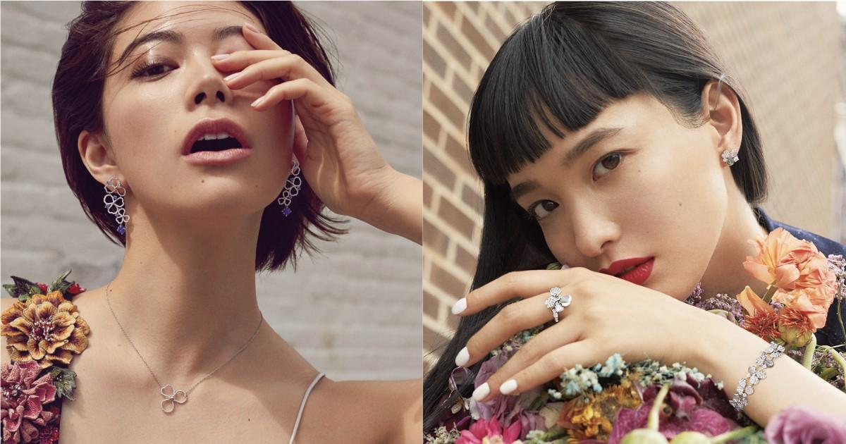 Tiffany Paper Flowers 系列,看日本名模萬波Yuka與森星如何詮釋女性的獨特面向